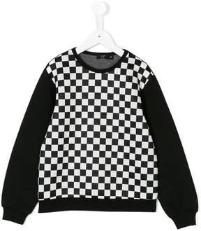 No.21 Kids checked sweatshirt
