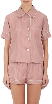 Araks Women's Shelby Dot-Print Silk Pajama Top