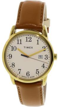 Timex Women's Easy Reader TW2R62700 Gold Leather Analog Quartz Dress Watch