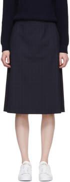 A.P.C. Navy Garance A-Line Skirt
