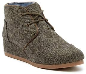 Toms Herringbone Desert Wedge Bootie (Little Kid & Big Kid)