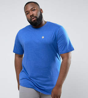 Le Breve PLUS Longline Curved Hem Marl T-Shirt
