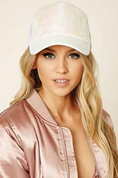 Forever 21 Iridescent Sequin Trucker Hat