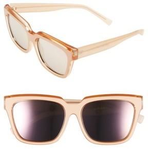Le Specs Women's 'Edition Two' 55Mm Sunglasses - Matte Blush/ Pearl Tan/ Gold