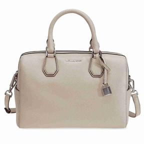 Michael Kors Mercer Pebbled Leather Duffle Bag - Cement - AS SHOWN - STYLE