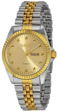 August Steiner Two-tone Diamond Men's Watch