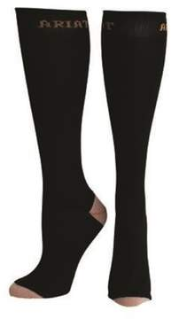 Ariat A10002638 Womens Slim Line Sport Socks, Black