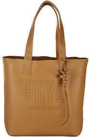 Frye Leather Perforated Logo UnlinedTote - Carson