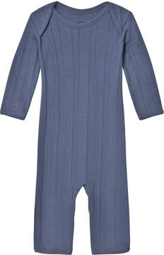 Mini A Ture Noa Noa Miniature Vintage Indigo Long Sleeved Jumpsuit
