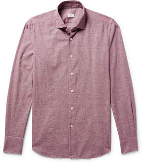 Incotex Slim-Fit Micro-Gingham Slub Cotton-Flannel Shirt