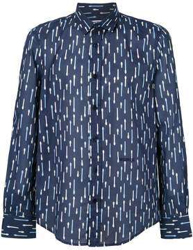 Dirk Bikkembergs stripe print shirt