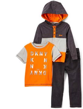 DKNY Caviar Colormix Hoodie Set - Toddler & Boys