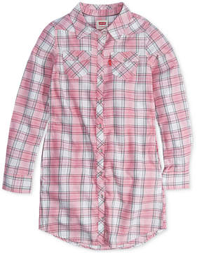 Levi's Plaid-Print Western Shirtdress, Toddler Girls (2T-5T)