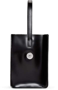 Kara Black Pinch Wristlet Clutch