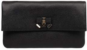 Michael Kors Black Everly Hammered Leather Clutch - BLACK - STYLE