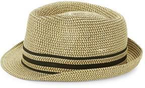 Saks Fifth Avenue Men's Striped Patterned Fedora Hat