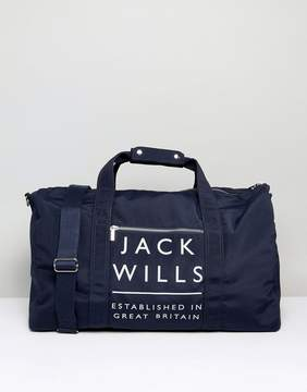 Jack Wills Kenneggy Logo Carryall in Navy