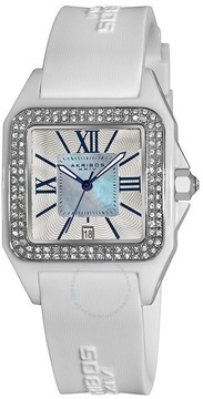 Akribos XXIV Akribos Mother of Pearl White Ceramic Ladies Watch