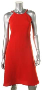 Calvin Klein Women's Halter Crepe Dress (12, Crimson)