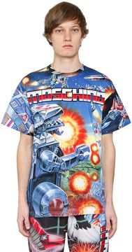 Moschino Transformer Print Cotton Jersey T-Shirt