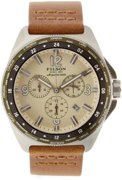 Filson Journeyman Chrono Stainless Steel Watch, 44mm