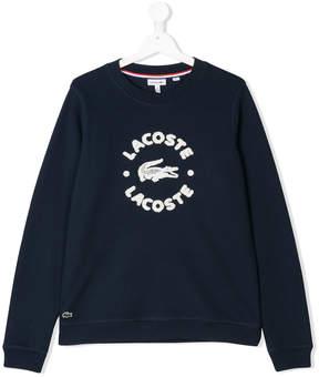 Lacoste Kids Teen logo sweatshirt