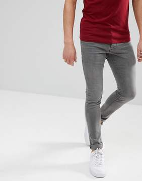 Solid Skinny Fit Jeans In Gray