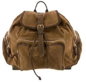 Pierre Hardy Bicolor Suede Backpack