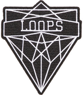 Junya Watanabe Black and White Loops Badge