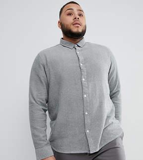 ONLY & SONS PLUS Slim Fit Melange Cotton Shirt