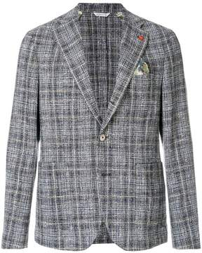 Manuel Ritz checked textured blazer