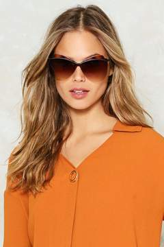 Nasty Gal nastygal Over the Top Aviator Shades