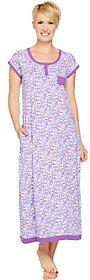 Carole Hochman As Is Ditsy Field Cotton Knit Long Gown