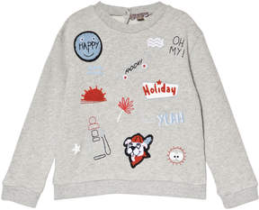 Emile et Ida Grey Badges Sweatshirt