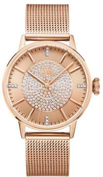 JBW Belle Rosetone 12-Diamond Mesh Band Watch