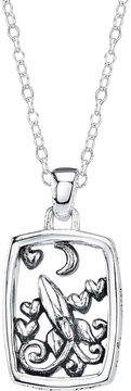 Footnotes Sterling Silver Love You To The Moon Pendant Necklace