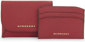 Burberry Mayfield small grained leather card case - PARADE RED - STYLE