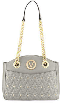 Mario Valentino Valentino By Camelie D Studs Quilted Sauvage Leather Shoulder Bag