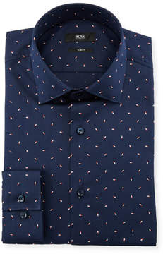BOSS Men's Slim Fit Birdseye Dress Shirt