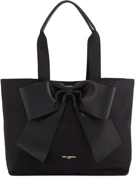 Karl Lagerfeld Paris Kris Nylon Tote with Bow