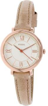 Fossil Women's ES3802 Jacqueline Leather Watch, 27mm