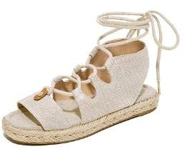 Michael Kors Womens Mckenna Cotton Open Toe Casual Espadrille Sandals