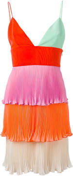 Fausto Puglisi tiered mini pleat dress