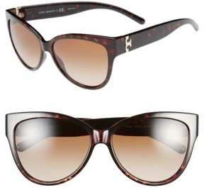 Tory Burch Women's 59Mm Cat Eye Sunglasses - Tortoise