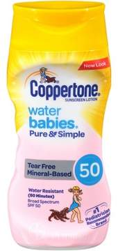 Coppertone Waterbabies Pure and Simple Zinc Sunscreen Lotion - SPF 50 - 6oz
