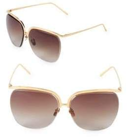 Linda Farrow 65MM Clubmaster Sunglasses