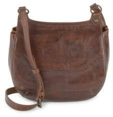 Frye Snap-Front Leather Saddle Bag