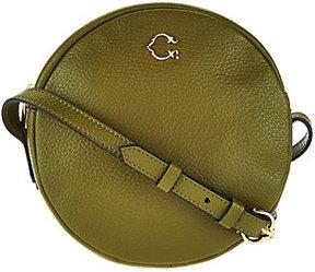 As Is C. Wonder Round Canteen Leather Crossbody Handbag
