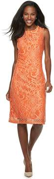 Orange Two Tone Lace Dress