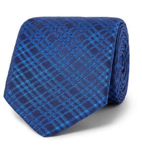 Charvet 7.5cm Checked Silk-Jacquard Tie